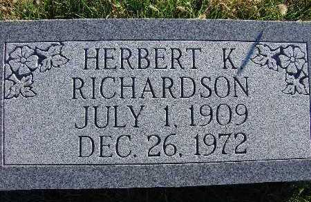 RICHARDSON, HERBERT K. - Warren County, Iowa | HERBERT K. RICHARDSON