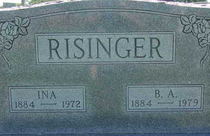 RISINGER, B. A. - Warren County, Iowa | B. A. RISINGER