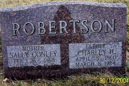 CONLEY ROBERTSON, CHARLEY H AND SALLY - Warren County, Iowa | CHARLEY H AND SALLY CONLEY ROBERTSON