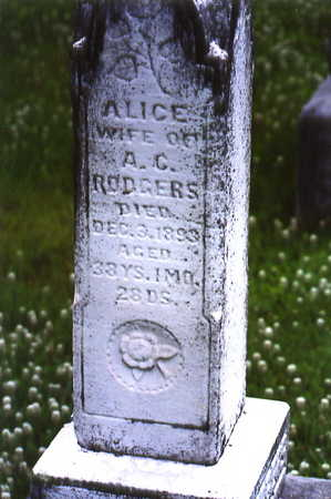 RODGERS, ALICE - Warren County, Iowa | ALICE RODGERS