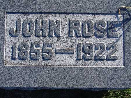 ROSE, JOHN - Warren County, Iowa | JOHN ROSE