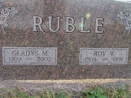 RUBLE, GLADYS M. - Warren County, Iowa | GLADYS M. RUBLE