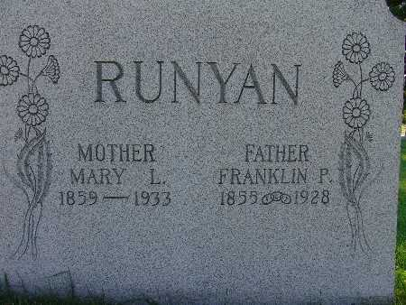 RUNYAN, MARY L. - Warren County, Iowa | MARY L. RUNYAN