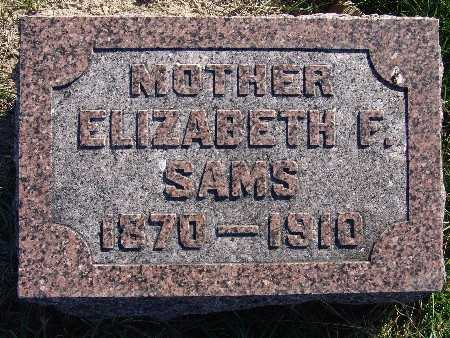 SAMS, ELIZABETH F. - Warren County, Iowa | ELIZABETH F. SAMS