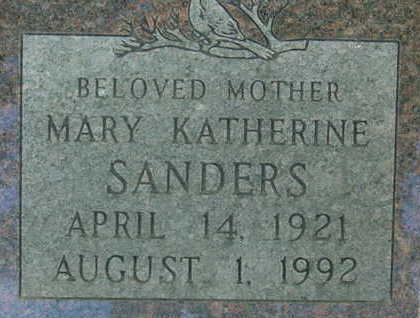 SANDERS, MARY KATHERINE - Warren County, Iowa | MARY KATHERINE SANDERS