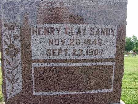 SANDY, HENRY CLAY - Warren County, Iowa | HENRY CLAY SANDY
