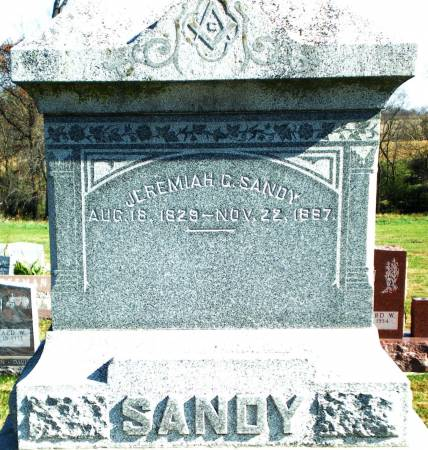 SANDY, JEREMIAH G. - Warren County, Iowa   JEREMIAH G. SANDY
