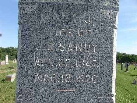SANDY, MARY J. - Warren County, Iowa | MARY J. SANDY