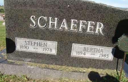 SCHAEFER, BERTHA - Warren County, Iowa | BERTHA SCHAEFER
