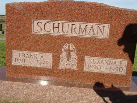 SCHURMAN, FRANK A. - Warren County, Iowa | FRANK A. SCHURMAN