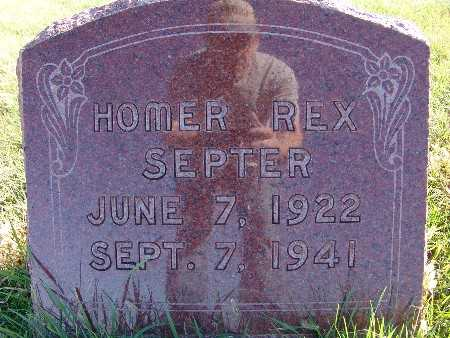 SEPTER, HOMER REX - Warren County, Iowa | HOMER REX SEPTER