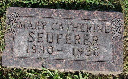 SEUFERER, MARY CATHERINE - Warren County, Iowa | MARY CATHERINE SEUFERER