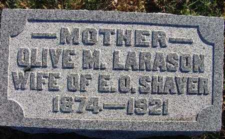 SHAVER, OLIVE M. LARSON - Warren County, Iowa | OLIVE M. LARSON SHAVER