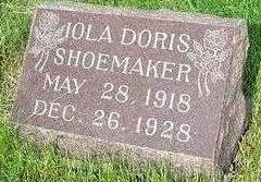 SHOEMAKER, IOLA - Warren County, Iowa | IOLA SHOEMAKER