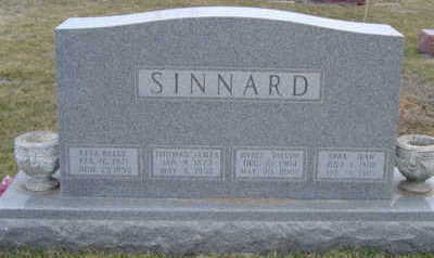 SINNARD, THOMAS JAMES - Warren County, Iowa | THOMAS JAMES SINNARD