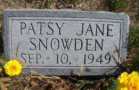 SNOWDEN, PATSY JANE - Warren County, Iowa | PATSY JANE SNOWDEN