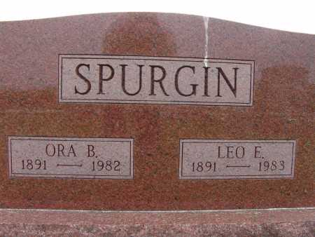 SPURGIN, ORA B. - Warren County, Iowa | ORA B. SPURGIN