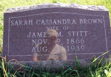 STITT, SARAH CASSANDRA BROWN - Warren County, Iowa | SARAH CASSANDRA BROWN STITT
