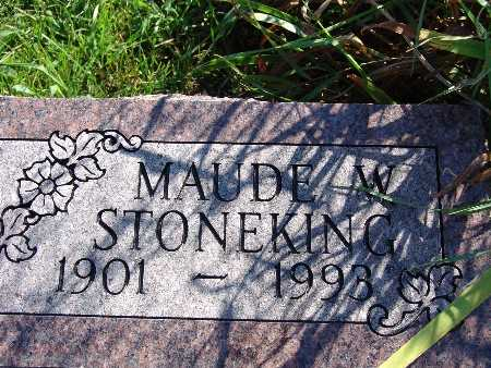 STONEKING, MAUDE W - Warren County, Iowa | MAUDE W STONEKING