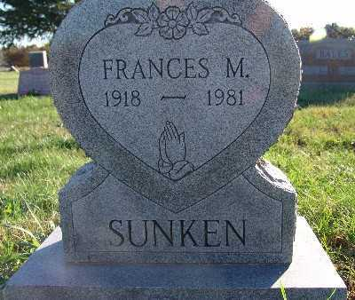 CLARY SUNKEN, FRANCES M. - Warren County, Iowa | FRANCES M. CLARY SUNKEN