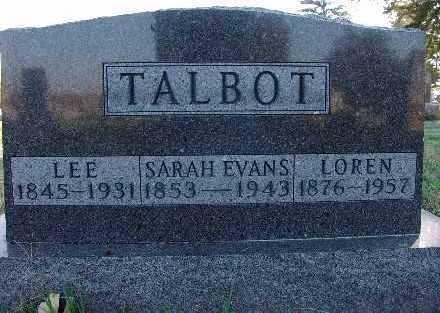 TALBOT, SARAH EVANS - Warren County, Iowa | SARAH EVANS TALBOT