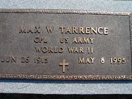 TARRENCE, MAX W. - Warren County, Iowa | MAX W. TARRENCE