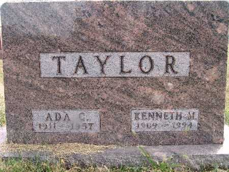 TAYLOR, KENNETH M. - Warren County, Iowa | KENNETH M. TAYLOR