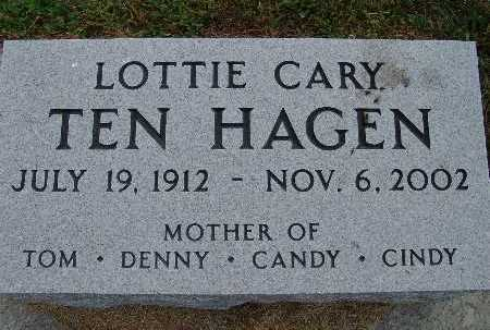 TEN HAGEN, LOTTIE CARY - Warren County, Iowa | LOTTIE CARY TEN HAGEN