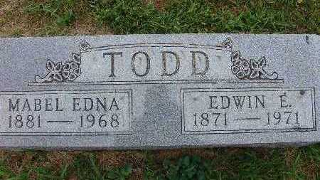 TODD, MABEL EDNA - Warren County, Iowa | MABEL EDNA TODD