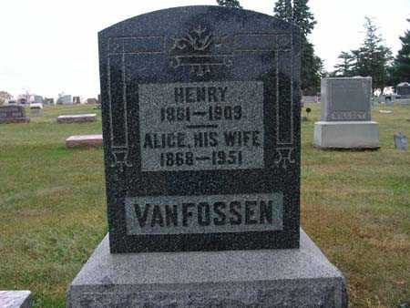 VAN FOSSEN, ALICE - Warren County, Iowa | ALICE VAN FOSSEN