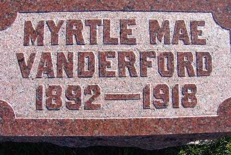 VANDERFORD, MYRTLE MAE - Warren County, Iowa | MYRTLE MAE VANDERFORD