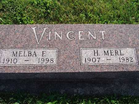VINCENT, MELBA F - Warren County, Iowa | MELBA F VINCENT