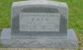 DITTMER WALK, CATHARINE - Warren County, Iowa | CATHARINE DITTMER WALK