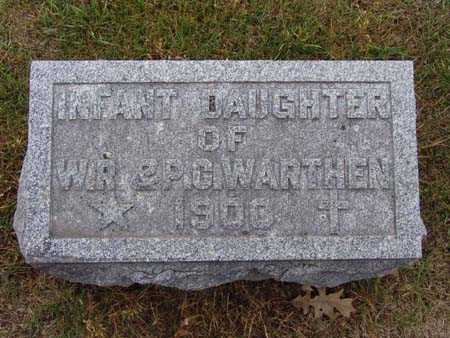 WARTHEN, INFANT DAUGHTER - Warren County, Iowa | INFANT DAUGHTER WARTHEN