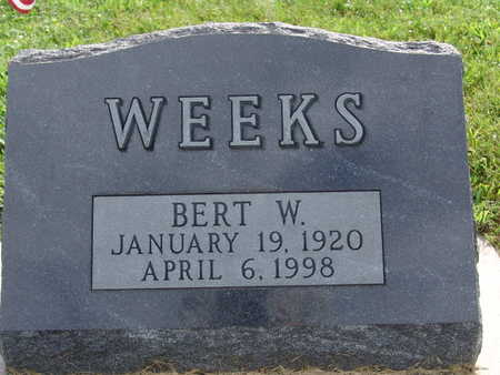 WEEKS, BERT W - Warren County, Iowa | BERT W WEEKS