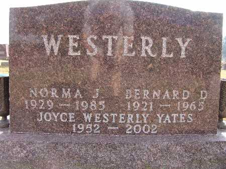 WESTERLY, BERNARD D. - Warren County, Iowa | BERNARD D. WESTERLY