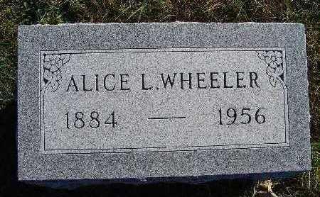 WHEELER, ALICE L. - Warren County, Iowa   ALICE L. WHEELER