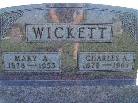 WICKETT, MARY A - Warren County, Iowa | MARY A WICKETT