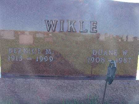 WIKLE, DUANE W. - Warren County, Iowa | DUANE W. WIKLE