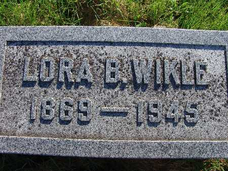 WIKLE, LORA B. - Warren County, Iowa | LORA B. WIKLE