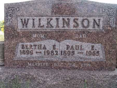 WILKINSON, PAUL E. - Warren County, Iowa | PAUL E. WILKINSON