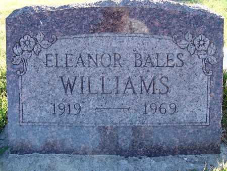 BALES WILLIAMS, ELEANOR - Warren County, Iowa | ELEANOR BALES WILLIAMS