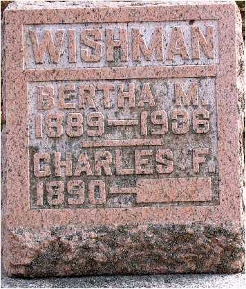 WISHMAN, BERTHA M. - Warren County, Iowa   BERTHA M. WISHMAN