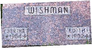 WISHMAN, BERTHA - Warren County, Iowa | BERTHA WISHMAN