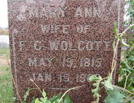 WOLCOTT, MARY ANN - Warren County, Iowa | MARY ANN WOLCOTT