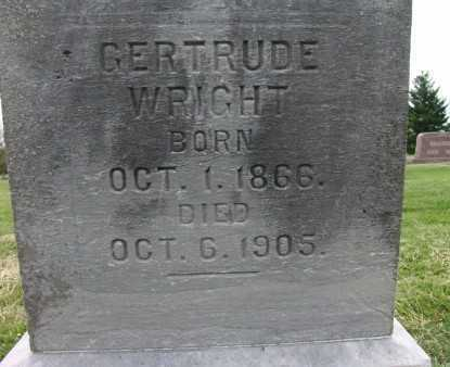WRIGHT, GERTRUDE - Warren County, Iowa | GERTRUDE WRIGHT
