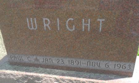 WRIGHT, PAUL C - Warren County, Iowa | PAUL C WRIGHT