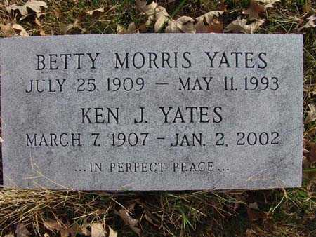 YATES, BETTY MORRIS - Warren County, Iowa | BETTY MORRIS YATES