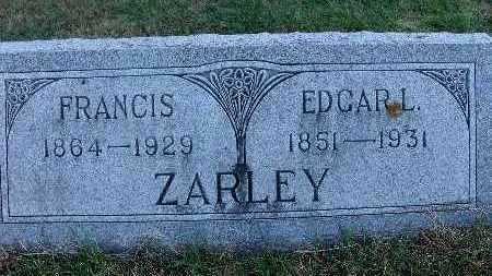 ZARLEY, EDGAR L. - Warren County, Iowa | EDGAR L. ZARLEY