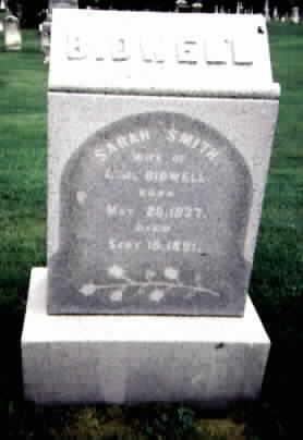 BIDWELL, SARAH - Washington County, Iowa | SARAH BIDWELL